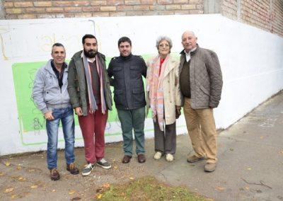 Muralismo en el mes aniversario de Rivadavia.