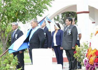Homenaje a los veteranos y caídos en Malvinas en Rivadavia.