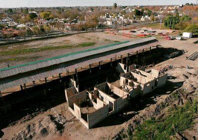 Avanza la construcción del Complejo de aulas del Ferrocarril.