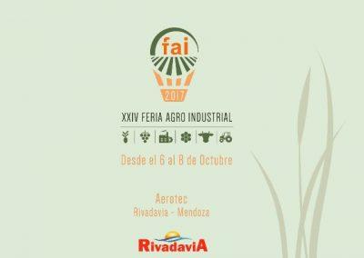 Se viene la XXIV edición de la Feria Agro Industrial de Rivadavia.
