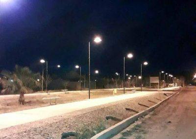 Finalizó la obra de iluminación en el Boulevard Sargento Cabral.