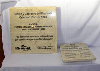 """La Escuela 9-006 """"Francisco H. Tolosa"""" de Rivadavia cumplió 100 años."""