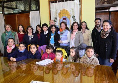 Los alumnos seleccionados de la Feria de Ciencias se reunieron con el Intendente.