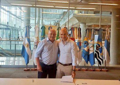 El Intendente Miguel A. Ronco firmó importante convenio en Buenos Aires