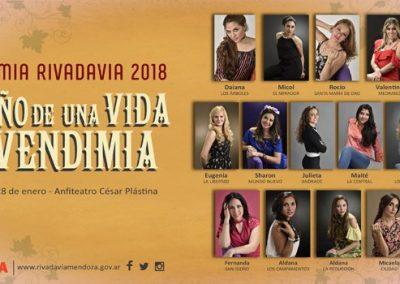 RIVADAVIA YA TIENE SUS 13 CANDIDATAS PARA LA CORONA VENDIMIAL