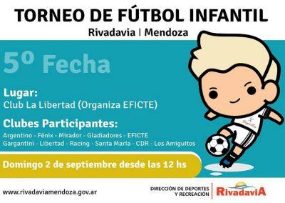 El próximo domingo se disputa la 5º fecha del Torneo Infantil