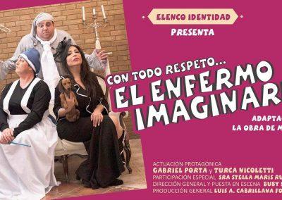 """Obra teatral con """"Con todo respeto, EL ENFERMO IMAGINARIO"""""""
