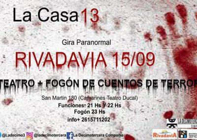 La Casa 13: Experiencia paranormal se presenta en Rivadavia