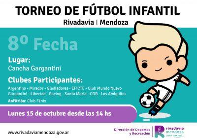 Este fin de semana se disputa la octava fecha del Torneo Municipal Infantil