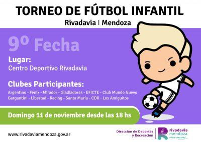 Novena fecha del Torneo Municipal de fútbol infantil
