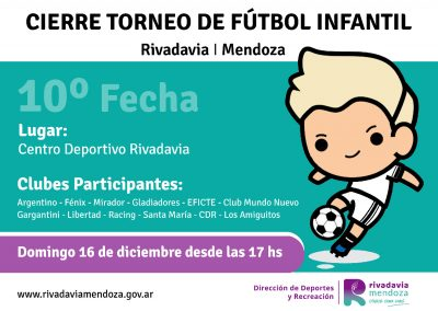 Cierre del torneo municipal de fútbol infantil