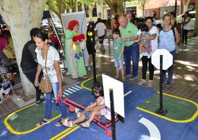 Los niños disfrutaron de la Ciudad Vial Móvil Federal en Rivadavia