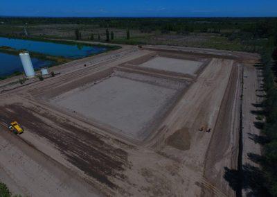 Avanza la obra de la planta depuradora en Rivadavia