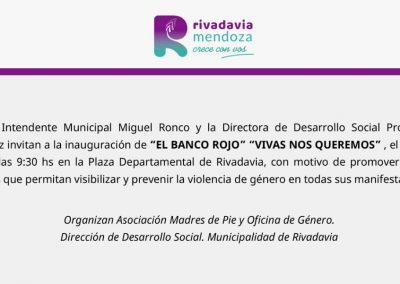 """Inauguración del """"Banco Rojo"""""""