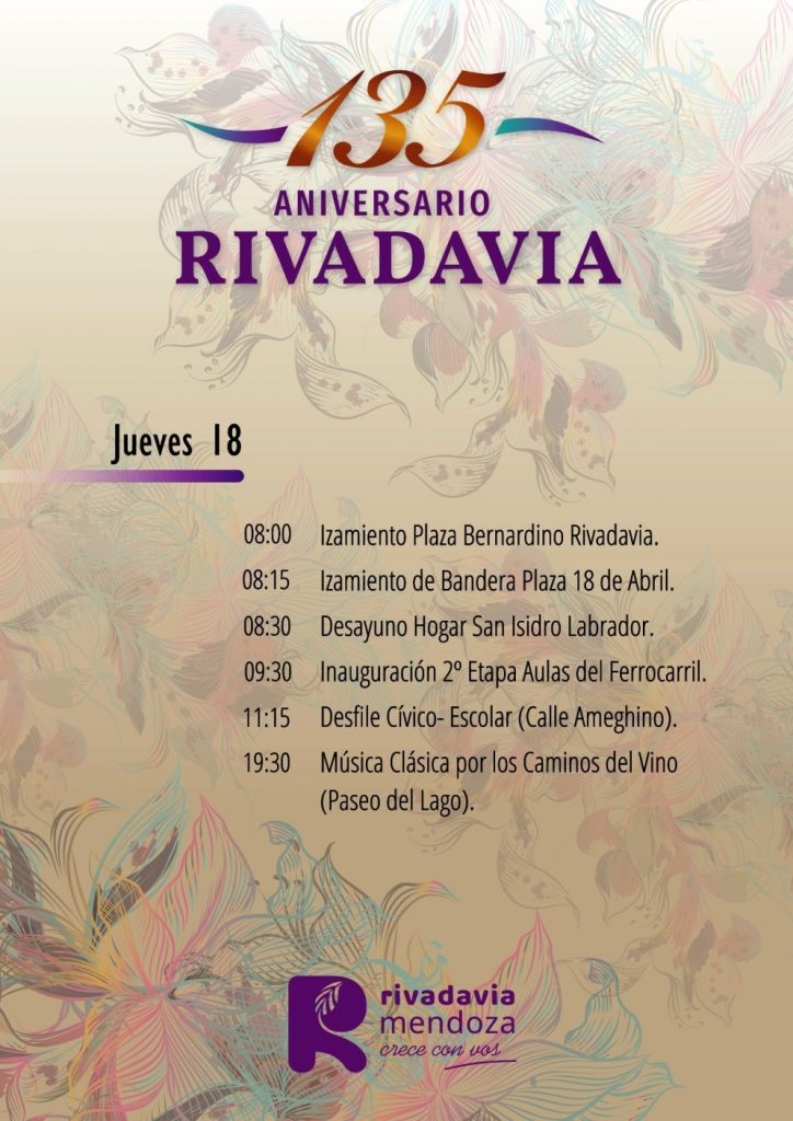 135 Aniversario de Rivadavia