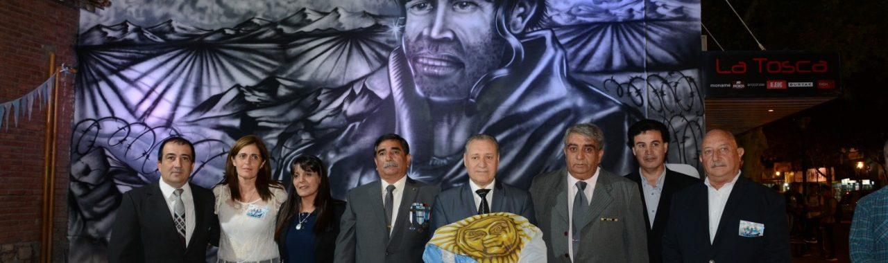 """Mural en homenaje a los """"Caídos en Malvinas"""""""