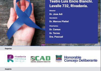Charla sobre concientización en cáncer colorectal, un enemigo silencioso