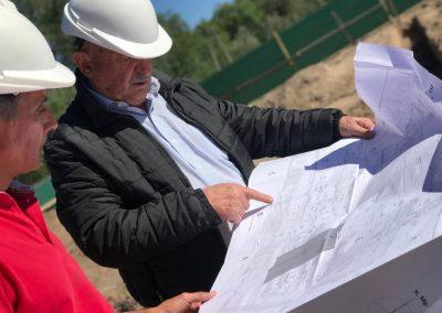 Avance en la construcción de la Escuela 1-042 Enrique Tittarelli