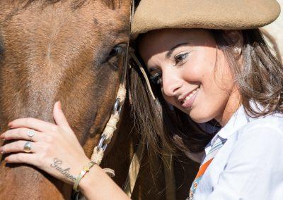 Micaela Comeglio representante de Rivadavia en la 38º Fiesta de la Ganadería