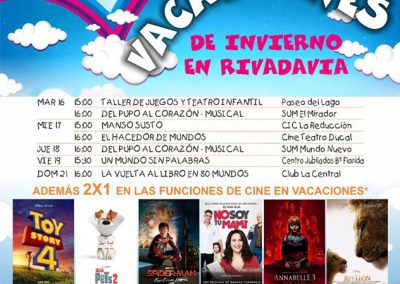 Última semana de vacaciones divertidas en Rivadavia