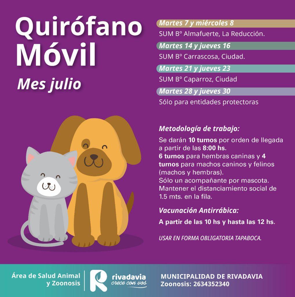 cronograma zoonosis julio