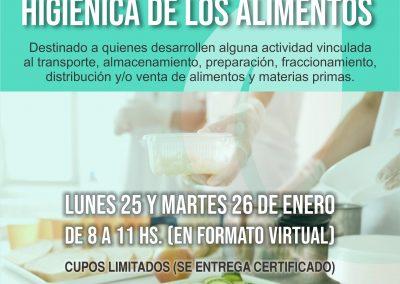 Rivadavia realizará un curso de manipulación de alimentos