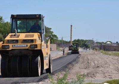 Las obras de la senda aeróbica de calle Lavalle, a punto de finalizar
