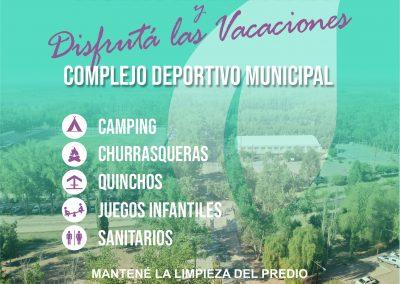 Se encuentran habilitadas las instalaciones del Camping Municipal de Rivadavia