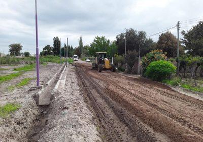 Trabajos de compactación en callejones Toro y Godoy