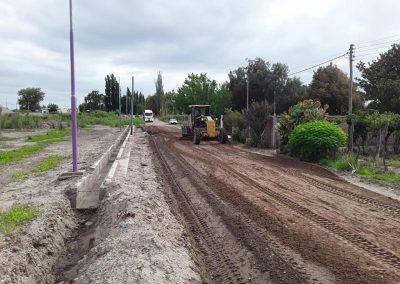 Trabajos de compactación en Callejones Toro, en La Libertad, y Godoy, en Andrade