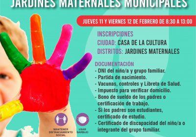 Preinscripción Jardines Maternales