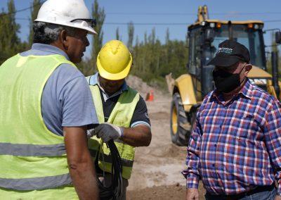 Continúan los trabajos de ampliación de la red de cloacas en La Central