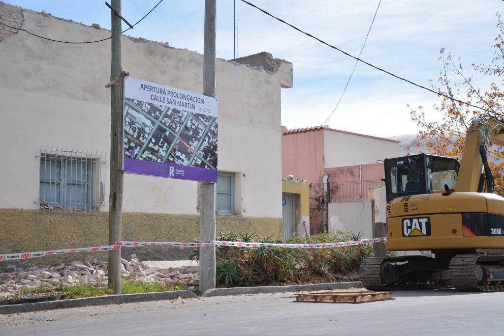 Apertura calle San Martín