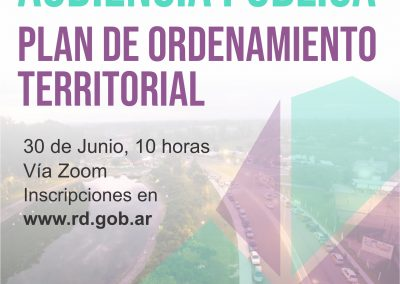 Convocatoria para quienes deseen participar de la Audiencia Pública del Plan de Ordenamiento Territorial