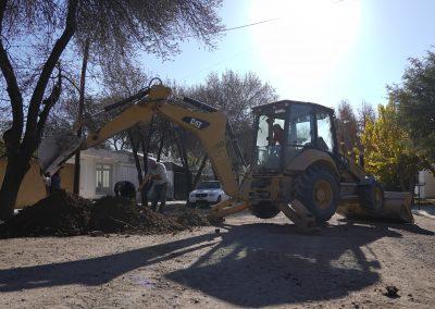 Rivadavia realiza obras de saneamiento en el distrito de Medrano