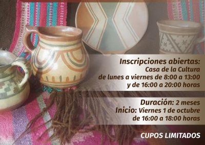Taller de cerámica indígena