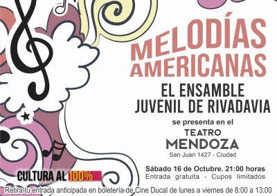 El Ensamble Juvenil de Rivadavia actuará en el Teatro Mendoza