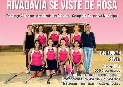 """Torneo de hockey sobre césped """"Rivadavia se viste de Rosa"""""""