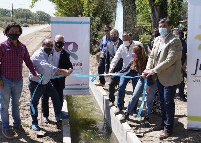 Rivadavia inauguró la impermeabilización del Canal Matriz Constitución – rama Moyano